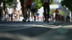 marathon shallow focus - stock footage