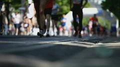 Stock Video Footage of marathon shallow focus