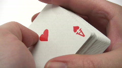 Shuffling Poker Cards Stock Footage