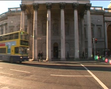 Bank of Ireland, College Green, Dublin  Stock Footage