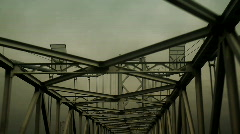Bridge iron steel Stock Footage