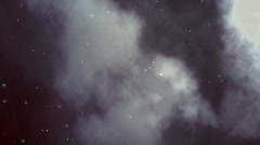Turbulent Space Cloudscape (Loop) Stock Footage