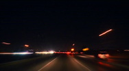 Stock Video Footage of Freeway City Driving Time-lapse