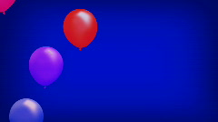 Vibrant Balloons Rising Background LOOP - stock footage