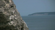 Stock Video Footage of Eroded limestone stacks om the island Gotland -Sweden
