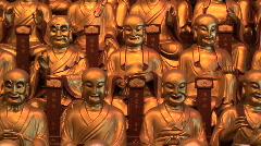 Buddha statues Stock Footage