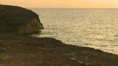 Cuba beach, rocky shore Stock Footage