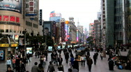 Busy city in China Stock Footage