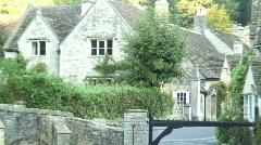 Castle Combe Wiltshire Stock Footage