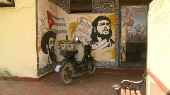 Cuba Che Guevara propganda Stock Footage