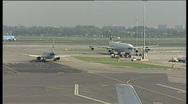 82 planes on airfield Stock Footage