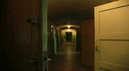 Corridor in an old house Stock Footage