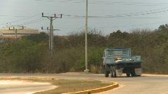 Trucking, Cuba, highway trucks Stock Footage
