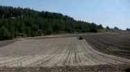 Ploughing time-lapse Stock Footage