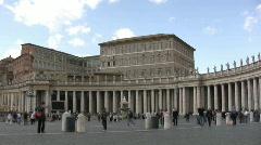 Saint Peter's Square - Vatican City Stock Footage