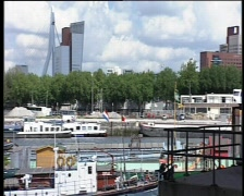 63 pan harbor Rotterdam Stock Footage