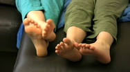 Wiggling toes Stock Footage