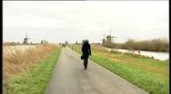 45 Kinderdijk windmills Stock Footage