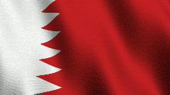 Flag of Bahrain - seamless loop Stock Footage