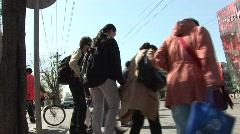 Crossing at Sanlitun Stock Footage
