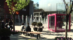 Sanlitun fountain - stock footage