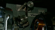 Stock Video Footage of 35mm Projector Running
