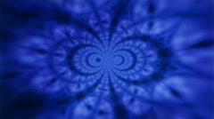 Blue Kaliedascope Background Texture LOOP Stock Footage