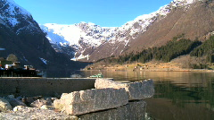 Nordic fjords Stock Footage