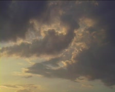 Clouds sunset time lapse Stock Footage
