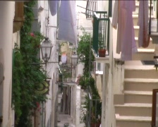Street in southern italy Stock Footage