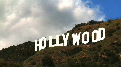 Hollywood Sign Clouds Time-lapse, Close - stock footage