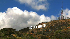 Hollywood Sign Clouds Time-lapse Stock Footage