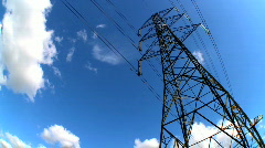 Time-lapse Electricity and energy - stock footage
