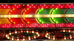 Vibrant Lights at a Carnival - stock footage