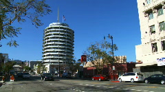 Hollywood Capitol Records on Vine Stock Footage