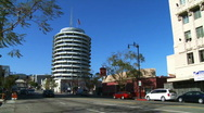 Stock Video Footage of Hollywood Capitol Records on Vine