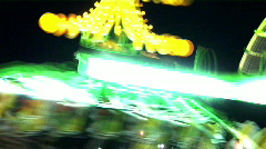Amusement Ride at a Carnival - stock footage