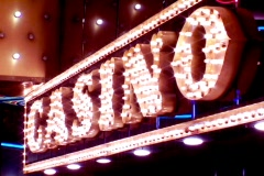 Flashing Lights on a CASINO Sign Stock Footage