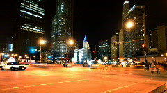 Pan Left Wacker and State Stock Footage