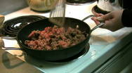 Home Cooking Stock Footage