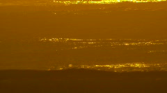 Golden Lines of Waves Rolling In - Sunrise, Early Morning  - stock footage
