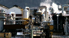 Oil Refinery Plant Stock Footage