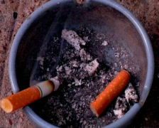 Cigarette and Ash Tray Stock Footage