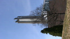 Cross church in Lahti, Finland, vertical composition 1 Stock Footage