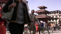 Durbar sq kathmandu H264 Widescreen 1280x720 Stock Footage