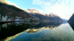 Time-lapse over nordic fjords Stock Footage