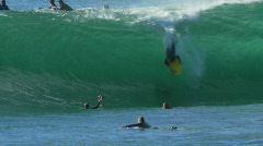 Bodyboard Barrel Ride - Wave Tube, Surfing Stock Footage