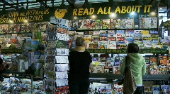 Stock Video Footage of newsstand
