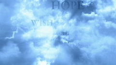 Traveling Through Clouds and Words LOOP Stock Footage