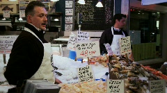 Seafood stall Stock Footage